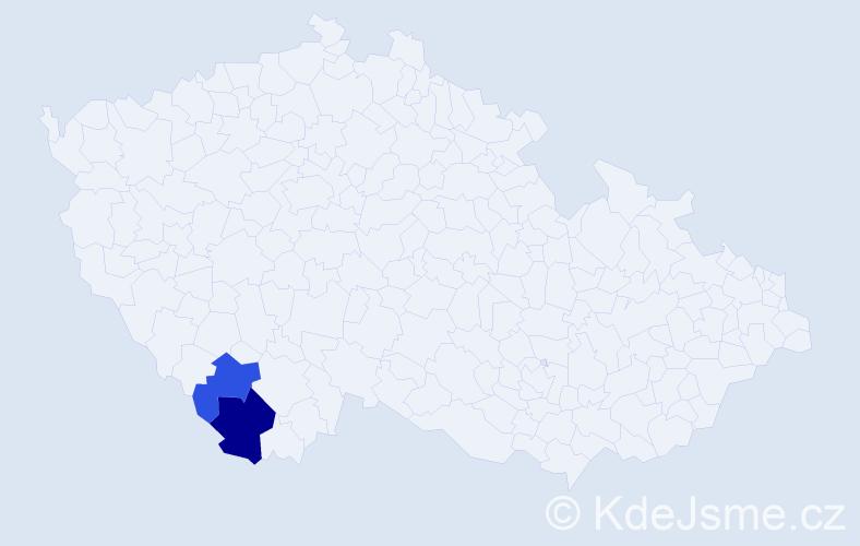 Příjmení: 'Kalischko', počet výskytů 3 v celé ČR