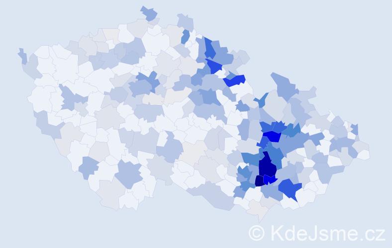 Příjmení: 'Gottwaldová', počet výskytů 788 v celé ČR