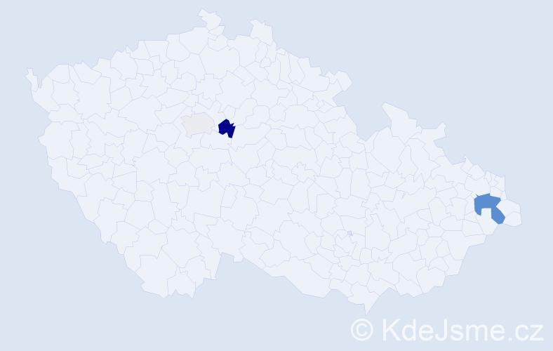 Příjmení: 'Falega', počet výskytů 7 v celé ČR