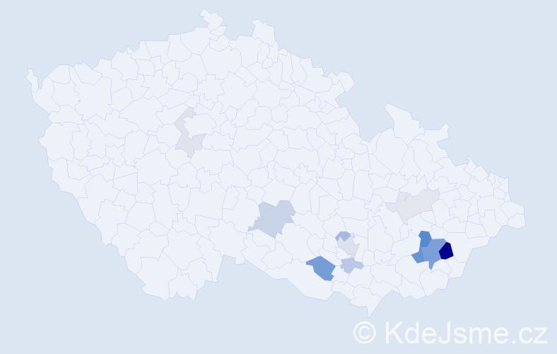 Příjmení: 'Balusek', počet výskytů 30 v celé ČR