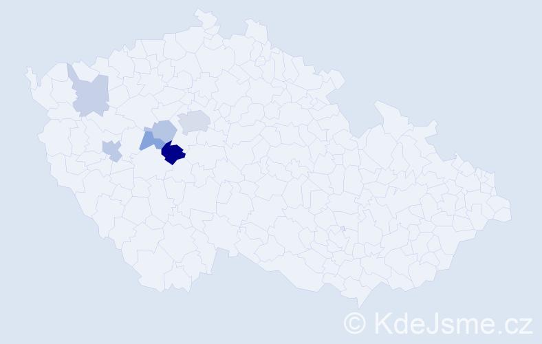 Příjmení: 'Jernek', počet výskytů 13 v celé ČR