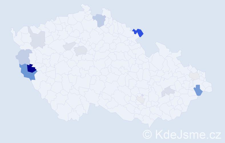 Příjmení: 'Ibrahimová', počet výskytů 35 v celé ČR