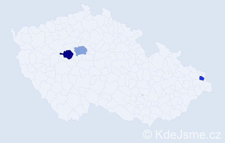 Příjmení: 'Garkischová', počet výskytů 5 v celé ČR