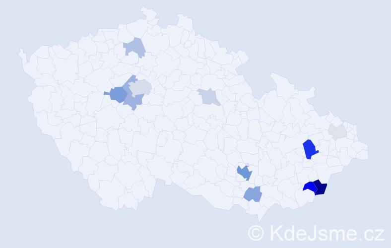 Příjmení: 'Elefant', počet výskytů 31 v celé ČR