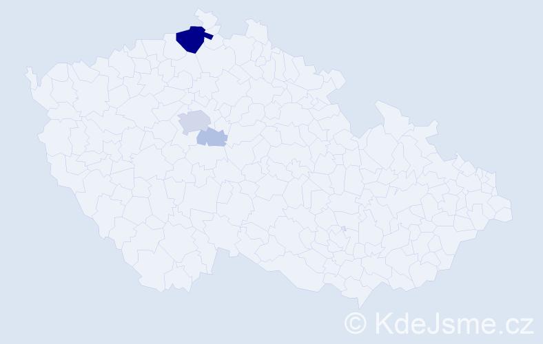 Příjmení: 'Koberec', počet výskytů 17 v celé ČR