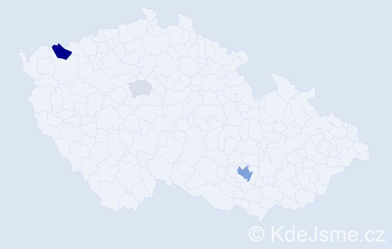 Příjmení: 'Lavor', počet výskytů 4 v celé ČR