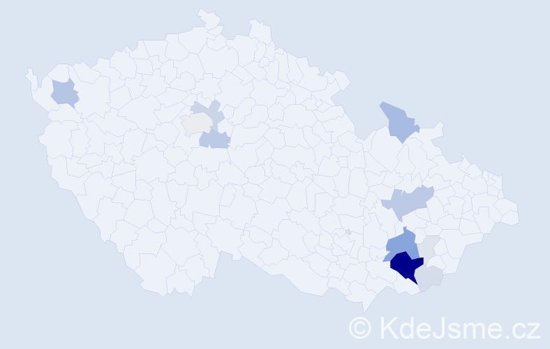 Příjmení: 'Belant', počet výskytů 52 v celé ČR