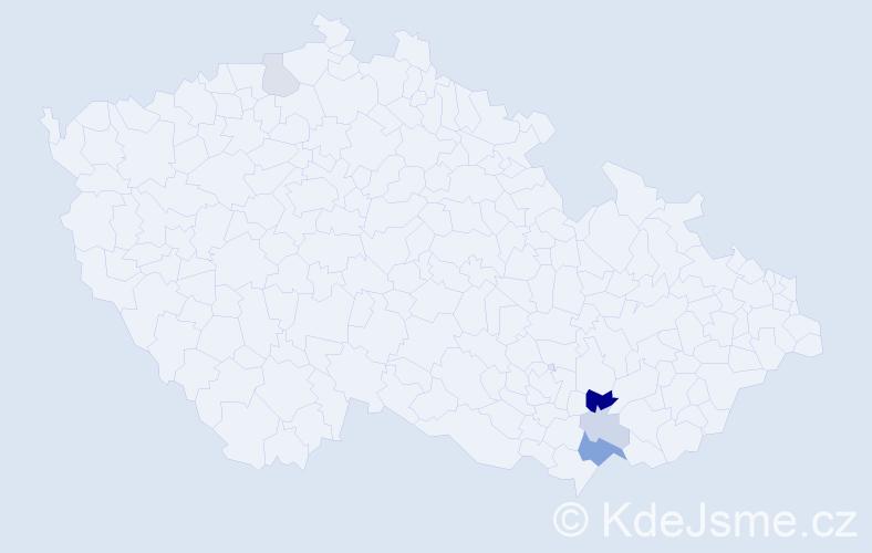 Příjmení: 'Capita', počet výskytů 10 v celé ČR