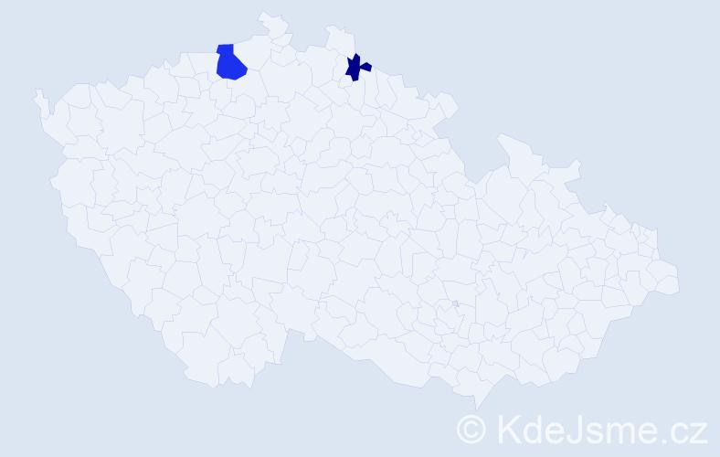 Příjmení: 'Banociová', počet výskytů 4 v celé ČR