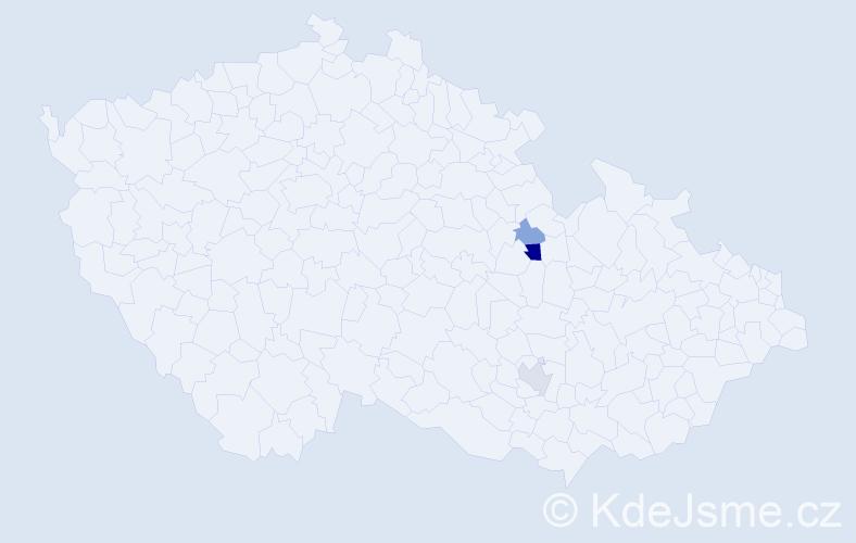 Příjmení: 'Kostroňová', počet výskytů 11 v celé ČR