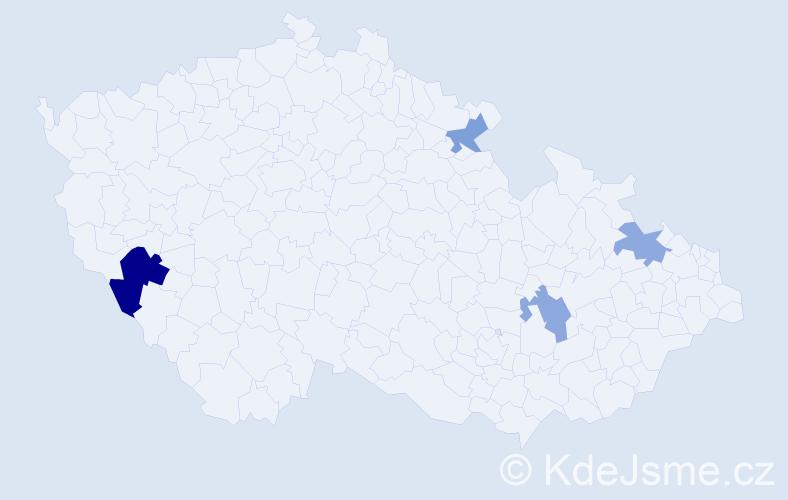 Příjmení: 'Kubalaková', počet výskytů 6 v celé ČR