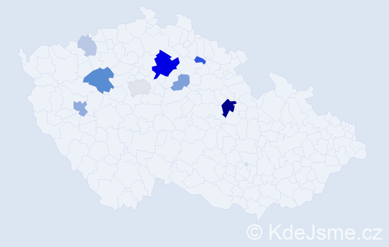Příjmení: 'Grundman', počet výskytů 25 v celé ČR