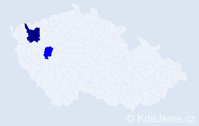 Příjmení: 'Feureislová', počet výskytů 6 v celé ČR