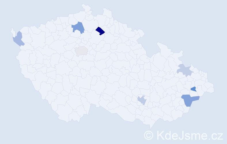 Příjmení: 'Barusová', počet výskytů 14 v celé ČR