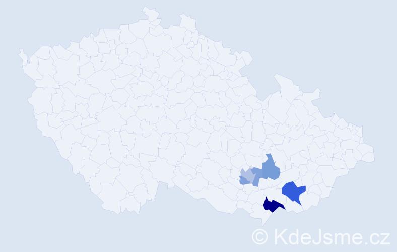 Příjmení: 'Baruš', počet výskytů 11 v celé ČR