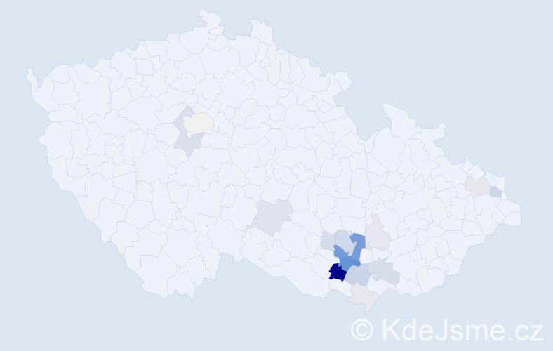 Příjmení: 'Fasorová', počet výskytů 63 v celé ČR