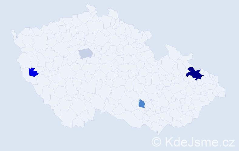 Příjmení: 'Lenek', počet výskytů 14 v celé ČR