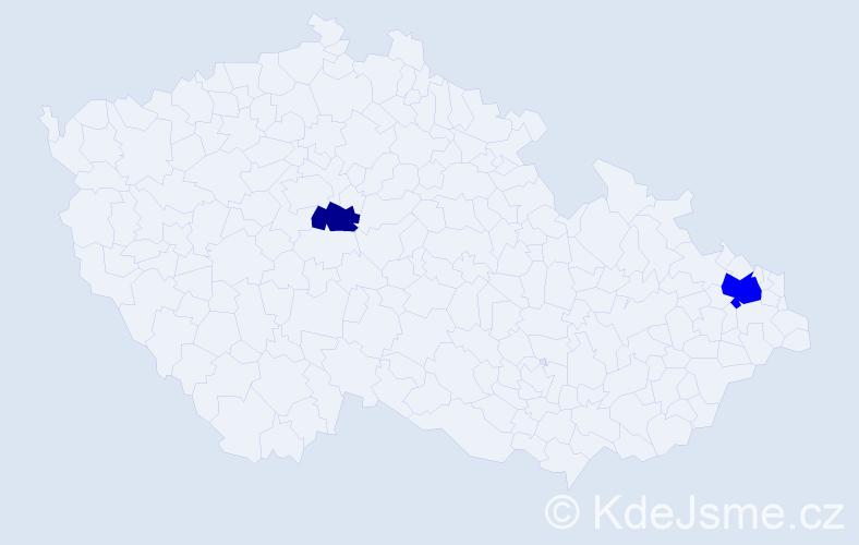 Příjmení: 'Ciferská', počet výskytů 8 v celé ČR