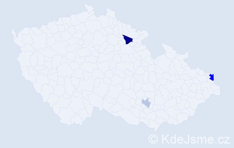 Příjmení: 'Fiľakovská', počet výskytů 4 v celé ČR