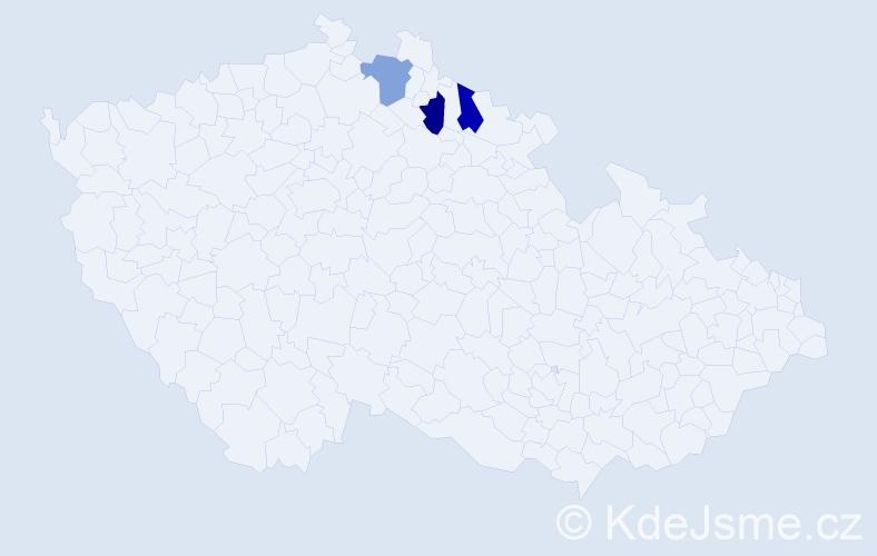 Příjmení: 'Jasso', počet výskytů 3 v celé ČR
