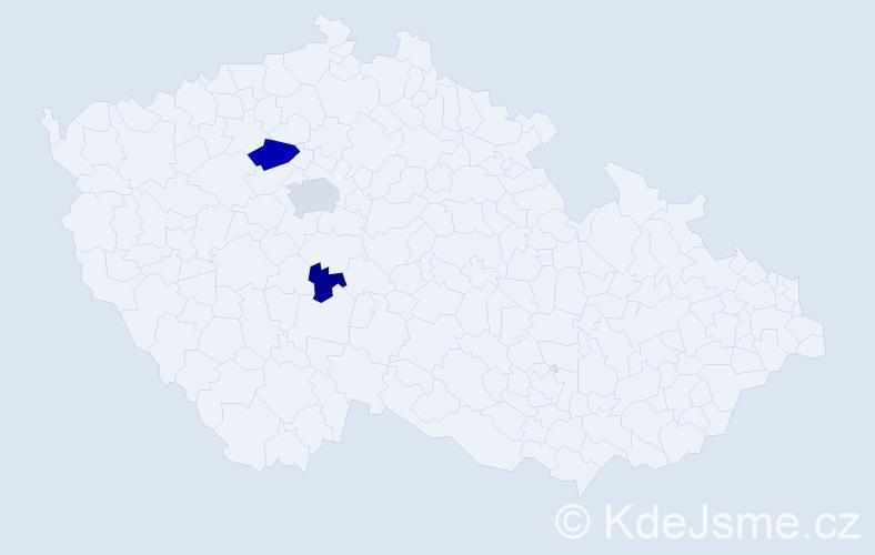 Příjmení: 'Cé', počet výskytů 7 v celé ČR