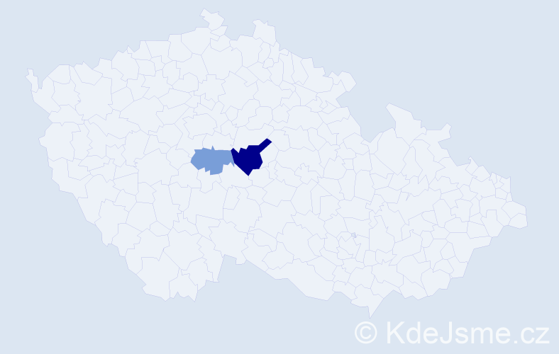 Příjmení: 'Děťátkovská', počet výskytů 4 v celé ČR