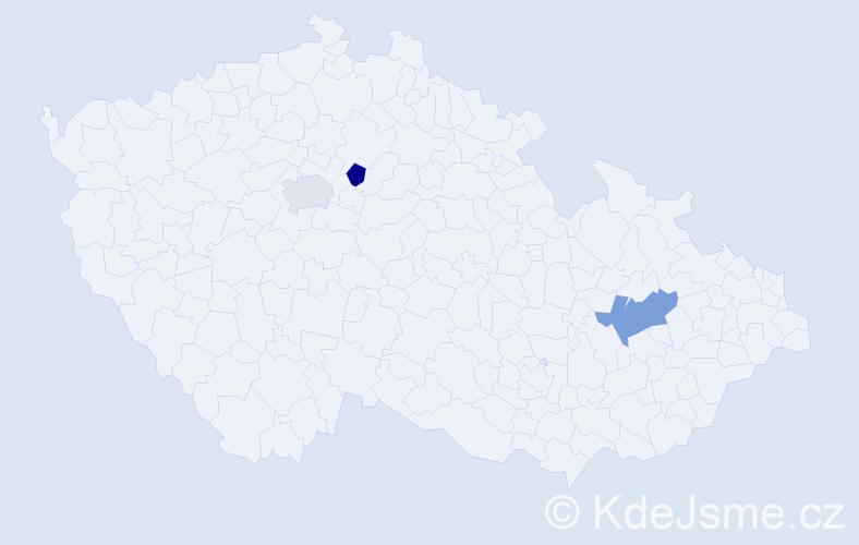 Příjmení: 'Čepělová', počet výskytů 7 v celé ČR
