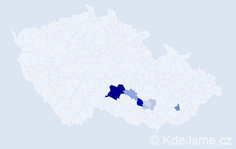 Příjmení: 'Francálková', počet výskytů 20 v celé ČR