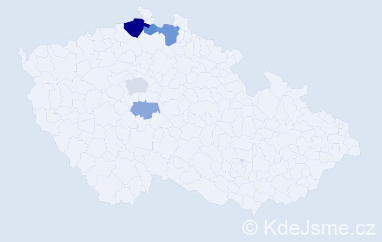 Příjmení: 'Korpoš', počet výskytů 14 v celé ČR