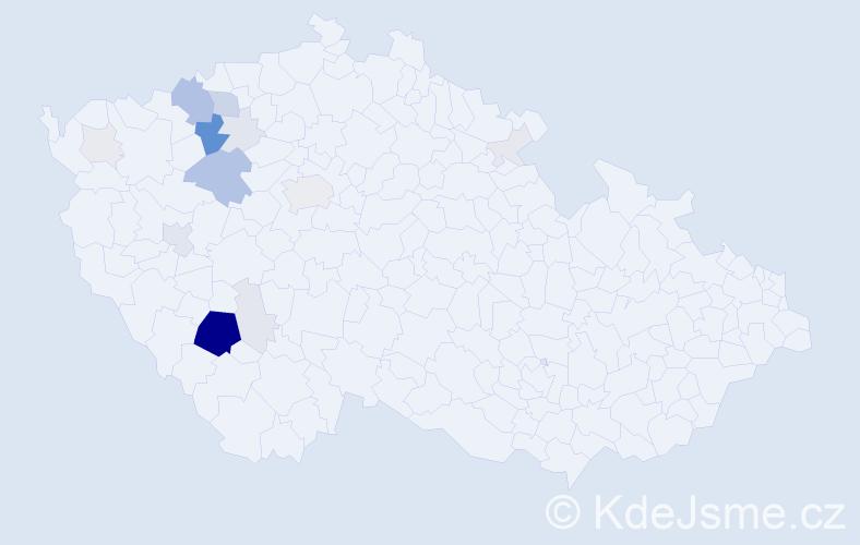 Příjmení: 'Irdza', počet výskytů 70 v celé ČR
