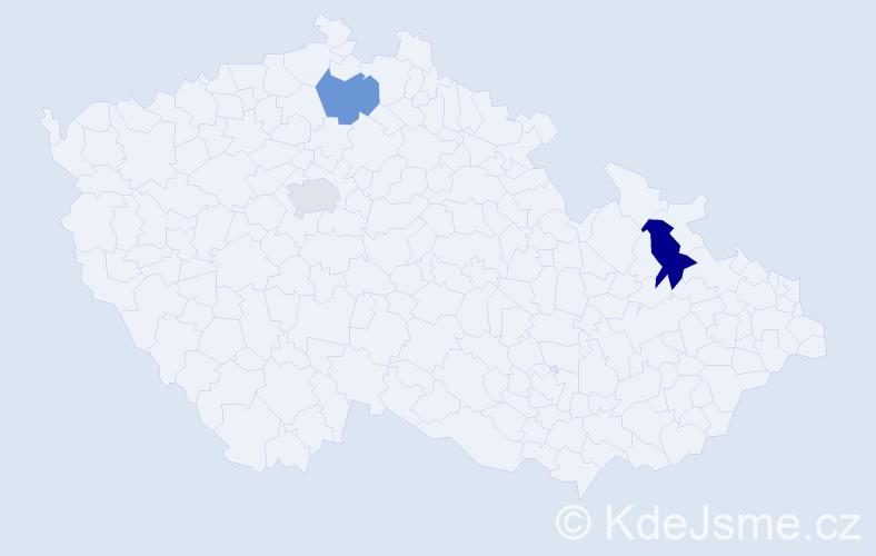 Příjmení: 'Kluba', počet výskytů 7 v celé ČR