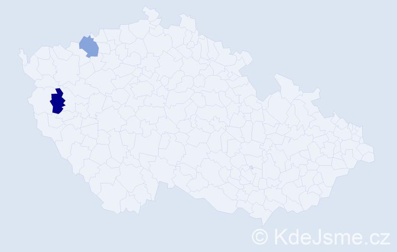 Příjmení: 'Ďurová', počet výskytů 2 v celé ČR