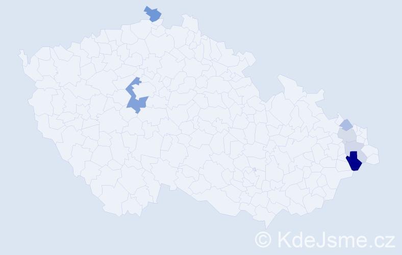 Příjmení: 'Izvorská', počet výskytů 14 v celé ČR