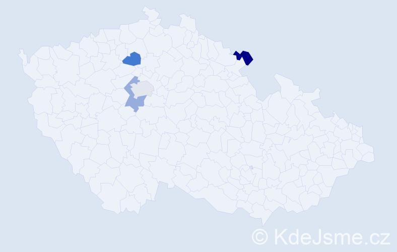 Příjmení: 'Himmelsbergerová', počet výskytů 4 v celé ČR