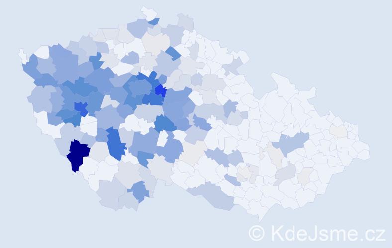 Příjmení: 'Forejt', počet výskytů 614 v celé ČR