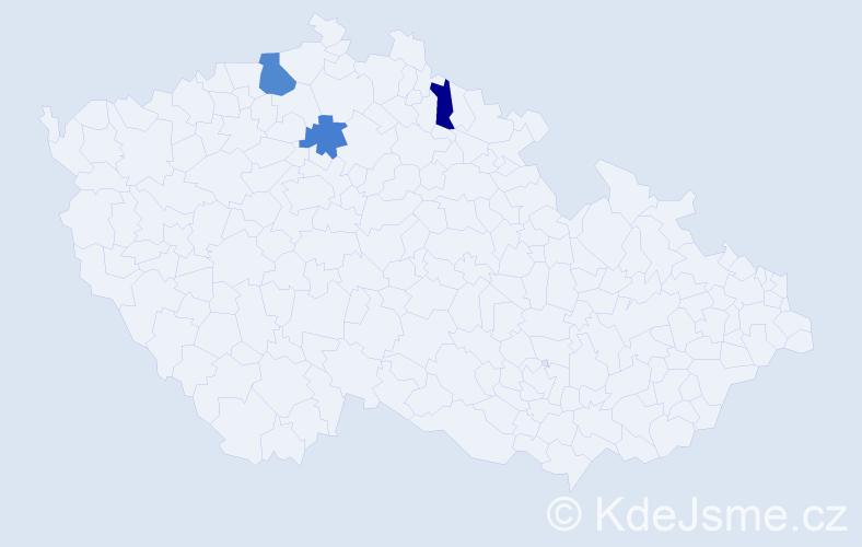 Příjmení: 'Kalafútová', počet výskytů 4 v celé ČR