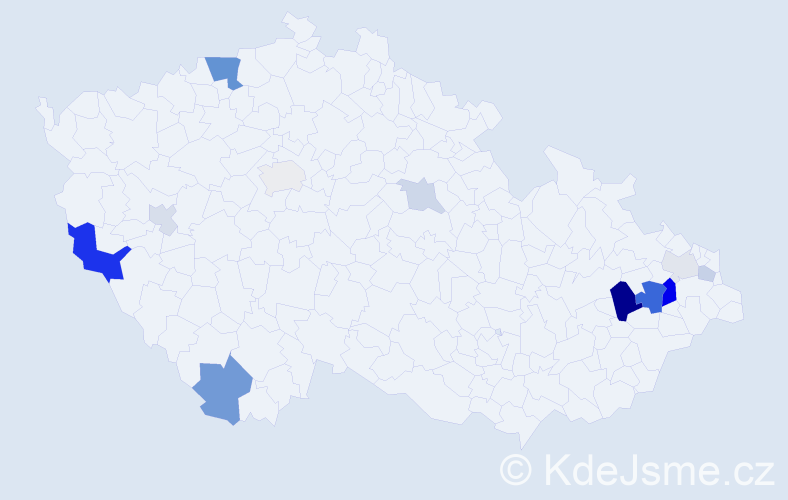 Příjmení: 'Erlová', počet výskytů 30 v celé ČR
