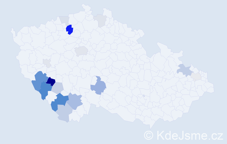 Příjmení: 'Dryje', počet výskytů 39 v celé ČR