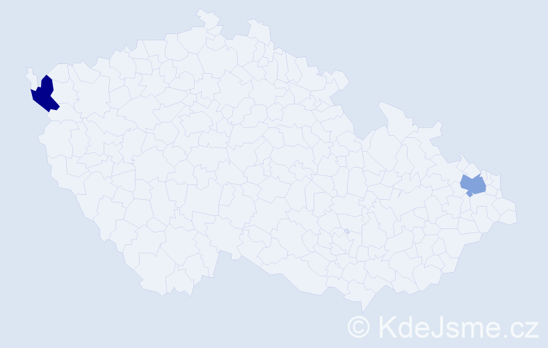 Příjmení: 'Glázer', počet výskytů 4 v celé ČR