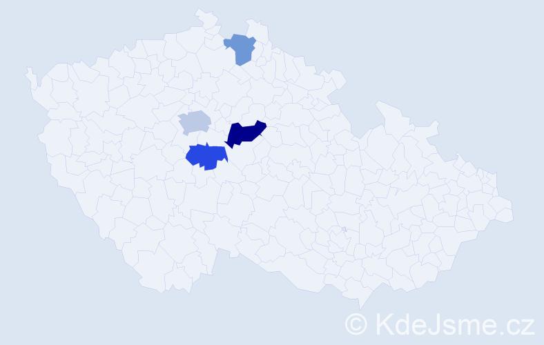 Příjmení: 'Kamelský', počet výskytů 6 v celé ČR