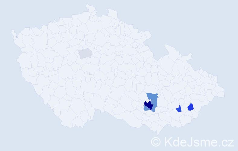 Příjmení: 'Jenyš', počet výskytů 31 v celé ČR
