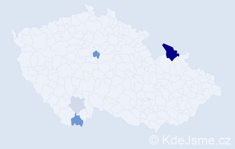 Příjmení: 'Kolomar', počet výskytů 9 v celé ČR