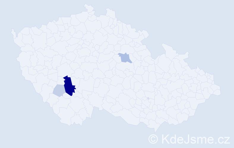Příjmení: 'Arnican', počet výskytů 16 v celé ČR