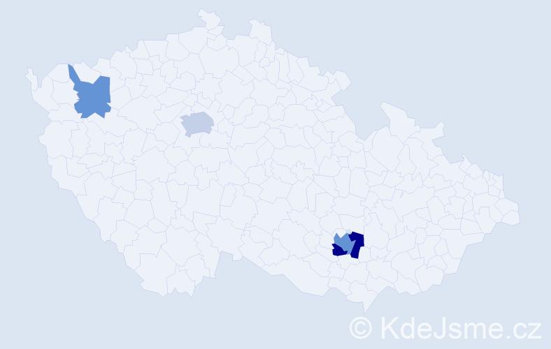 Příjmení: 'Eberhard', počet výskytů 8 v celé ČR