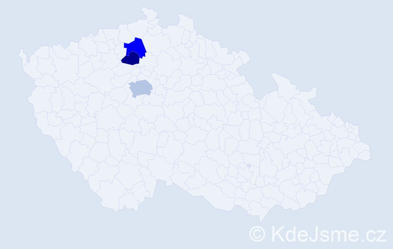 Příjmení: 'Gaper', počet výskytů 10 v celé ČR