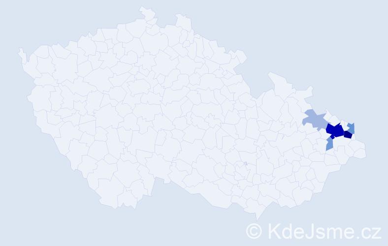 Příjmení: 'Gřešová', počet výskytů 24 v celé ČR