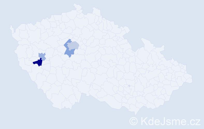 Příjmení: 'Kalatová', počet výskytů 6 v celé ČR