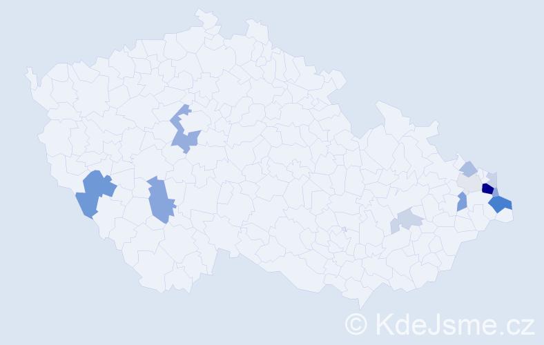 Příjmení: 'Farny', počet výskytů 34 v celé ČR