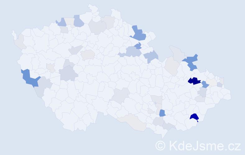 Příjmení: 'Anders', počet výskytů 137 v celé ČR
