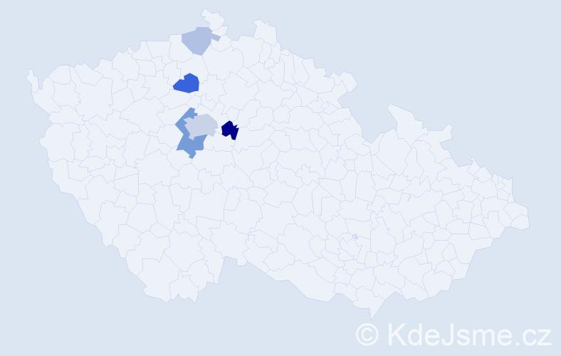 Příjmení: 'Egemová', počet výskytů 14 v celé ČR